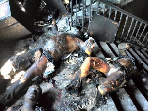 Odessa, burned bodies