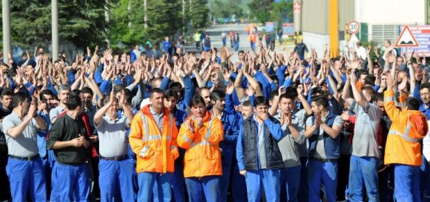 Turkish auto strike, workers