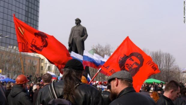 Ukraine Donetsk Lenin Statue
